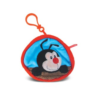 Puzzled Lady Bug 4-inch Coin Bag - Multi-color