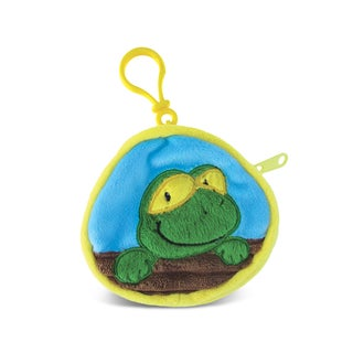 Puzzled Frog 4-inch Coin Bag