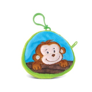 Puzzled 4-inch Monkey Coin Bag - Multi-color