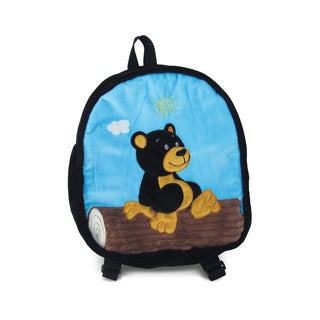 Puzzled Black Bear 11-inch Backpack