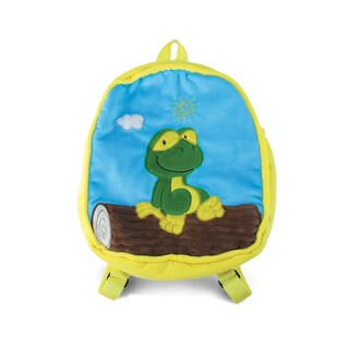 Puzzled 11-inch Backpack - Frog