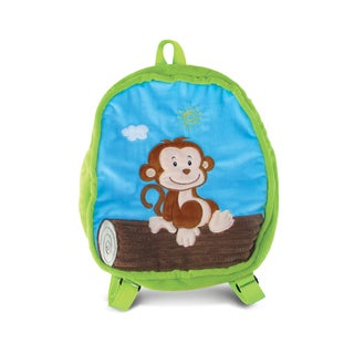 Puzzled 11-inch Monkey-themed Backpack