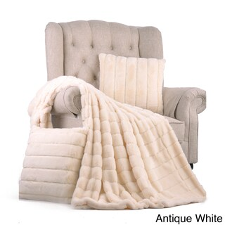 "BOON Rabbit Faux Fur Throw & 2 Pillow Combo Set, 50"" x 60"" & 60"" x 80"" (More options available)"