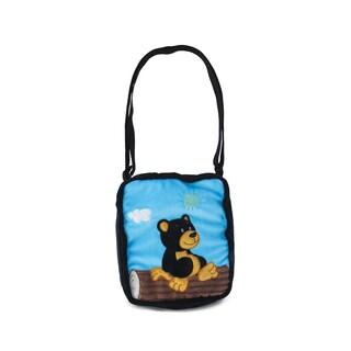 Puzzled Black Bear 9-inch Shoulder Bag