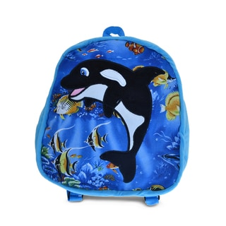 Puzzled 11-inch Killer Whale Backpack