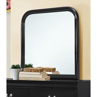 Louis Philippe Black Wood Mirror