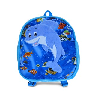 Puzzled 11-inch Dolphin Backpack
