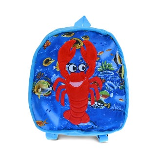 Puzzled 11 Multicolored Fabric Lobster Backpack