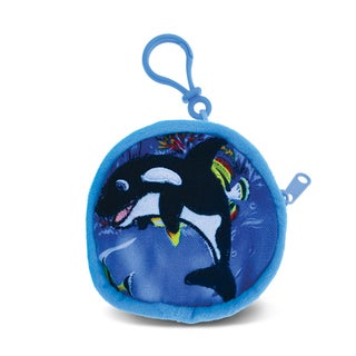 Puzzled 4-inch Killer Whale Coin Bag - Multi-color