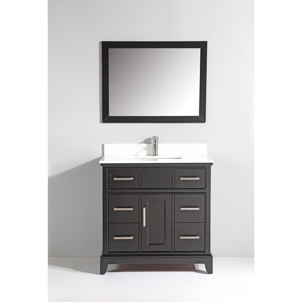 Vanity Art Phoenix Stone Top 36 Inch Single Sink Bathroom Vanity Set