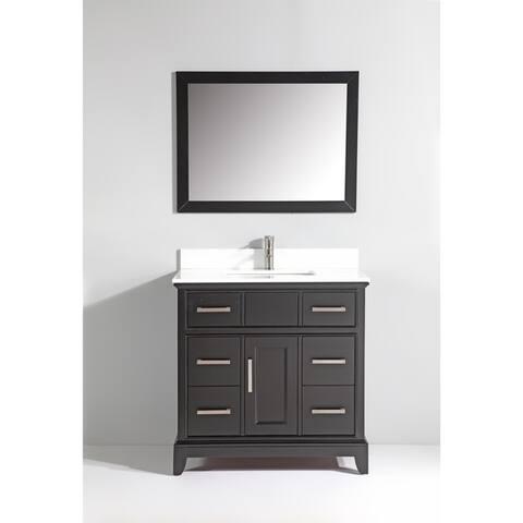 Vanity Art Phoenix Stone Top 36-inch Single-sink Bathroom Vanity Set