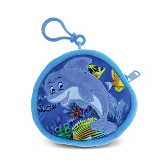 Puzzled 4-inch Dolphin Coin Bag - Multi-color