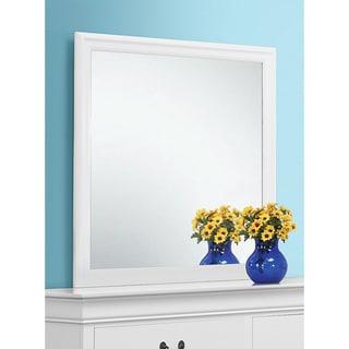 Coaster Company Louis Philippe White Wood Mirror