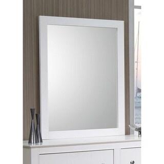 Coaster Company Selena White Wood Mirror