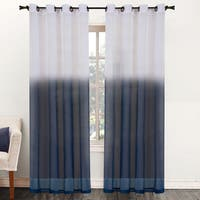 Two-Tone Ombre 84-inch Sheer Curtain Panel - 52 x 84
