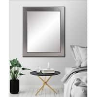 BrandtWorks Mod Euro Silver Wall Mirror - Nickel