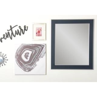 Multi Size BrandtWorks Black with Silver Accent Wall Mirror - Black/Silver