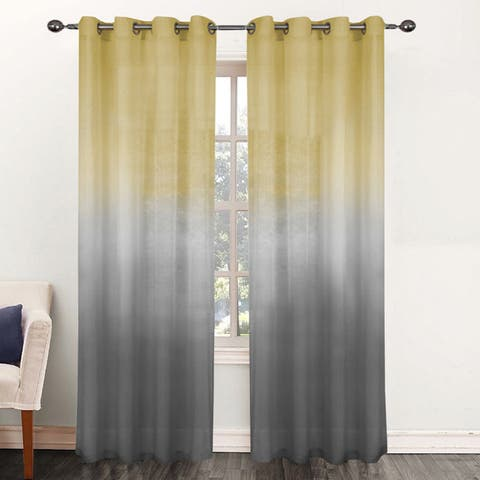 Rainbow Ombre 84-inch Sheer Curtain Panel - 52 x 84