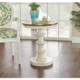 Powell Hampton Round White Table