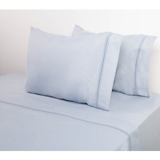 Home Dynamix Micro Lush Collection Embroidered 4-piece Sheet Set