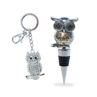 Puzzled Owl Wine Stopper and Sparkling Charm