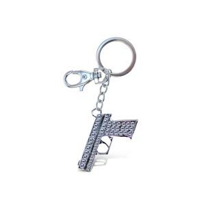 Puzzled Gun Sparkling Charm
