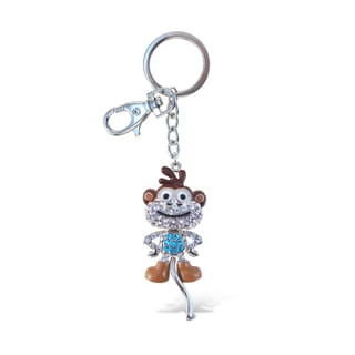 Puzzled Cartoon Monkey Sparkling Charms