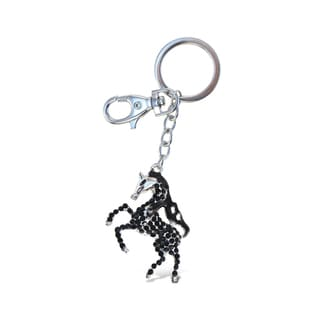 Puzzled Black Horse Sparkling Charm