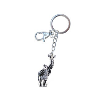 Puzzled Giraffe Metal Sparkling Charms