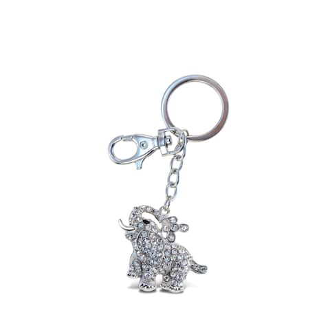 Puzzled Clear Elephant Sparkling Charm