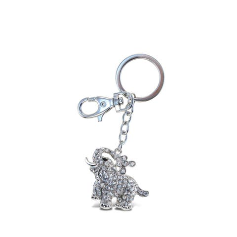 Puzzled Clear Elephant Sparkling Charm - S