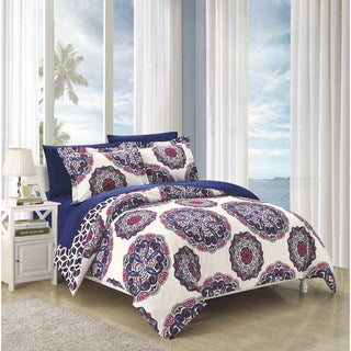 Chic Home Aragona Navy Duvet Cover 3-Piece Set