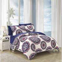 Clay Alder Home Prowers Navy Duvet Cover 3-piece Set