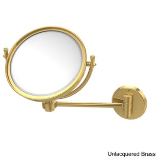 Allied Brass 8-Inch Clear Wall Mounted Makeup Mirror (3X Magnification)
