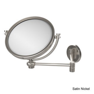 Allied Brass 8-inch Wall-mounted Extending 5X Magnification Makeup Mirror with Twist Accent