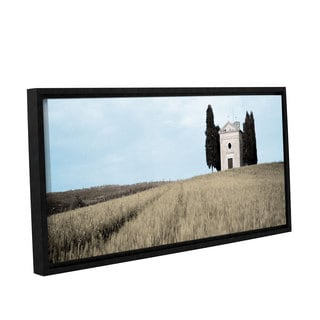 Alan Blaustein's 'Val Orcia Pano 2' Gallery Wrapped Floater-framed Canvas