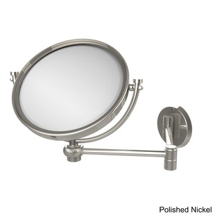 Allied Brass 8-inch Wall-mounted Extending Makeup Mirror 4x Magnification with Twist Accent
