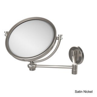 Allied Brass 8 Inch Wall Mounted Extending Make-Up Mirror 2X Magnification with Twist Accent