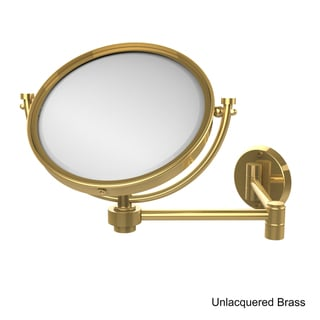 Allied Brass 8-inch Wall-mounted Extending Make-up Mirror with 4X Magnification