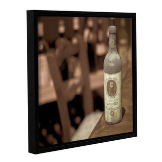 Alan Blaustein's 'Wine 1' Gallery Wrapped Floater-framed Canvas