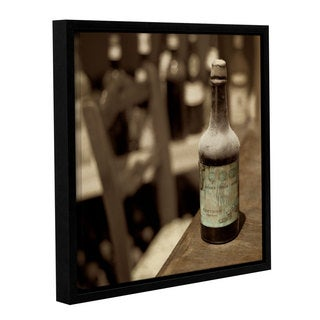 Alan Blaustein's 'Wine 2' Gallery Wrapped Floater-framed Canvas