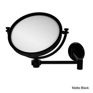 Allied Brass 8-Inch Wall Mounted Extending Make-Up Mirror with 2X Magnification