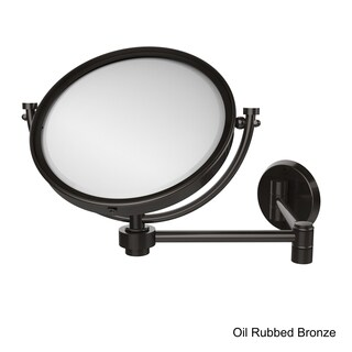 Allied Brass 8-inch Wall-mounted Extending Make-up Mirror with 5X Magnification