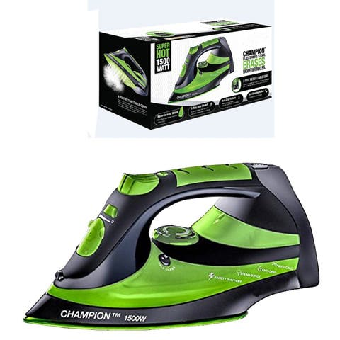 Eureka Champion Super Hot Green 1500-watt Iron Powerful Steam Surge Technology with 8-foot Retractable Cord