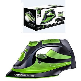 Eureka Champion Super Hot Green 1500-watt Iron Powerful Steam Surge Technology with 8-foot Retractable Cord, Pouch Included