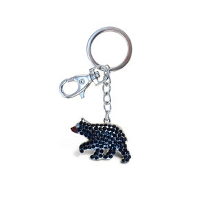 Puzzled Bear Black Sparkling Charm