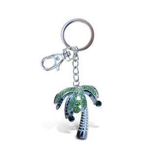 Puzzled Palm Tree Sparkling Charm