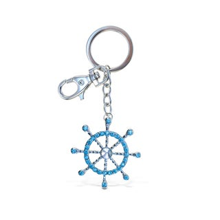 Puzzled Boat Steering Wheel Sparkling Charm