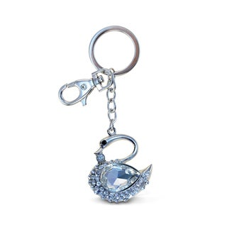 Puzzled Swan Sparkling Charm