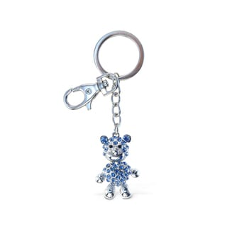 Puzzled Sparkling Charms Blue Bear Keychain